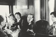 帰途の車中 (1954年7月)