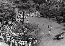 「大学管理法」反対学生集会 6月24日 ランチタイム 芝生庭