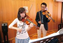 ヴァイオリン実技 写真