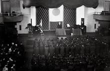 卒業式 ファウラー講堂(1944年9月21日)