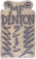 デントン・ハウス門札 1939~40年ころ米人 Waren Gilbertsonが製作。同氏は1939年春より40年秋まで五条坂・河井寛次郎に入門し陶芸を学んだ