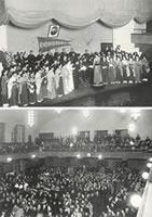 同志社EVE 恒例の同志社創立57回記念大音楽会はファウラー講堂で開催、昼夜2回、29日創立記念式(1932年11月28日)