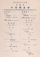 同志社女子大学音楽専攻卒業独奏会(1952年6月)