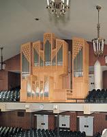 栄光館のパイプオルガン 1980年8月に2代目にあたるパイプオルガンが設置された