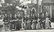 専門学部家政科卒業生 (1920年3月)