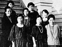 サンフランシスコ同窓会 松岡筆(普通学部1913年、家政科1916年卒業)宅(1924年2月22日)
