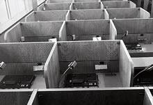 LL教室(楽真館) 教室は最新の設備を備えていた