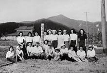 同志社女子専門学校報国団農場 1941年2月の文部省通達(青少年学徒食糧飼料増産運動実施)を受けて岩倉ほかに農場を開設