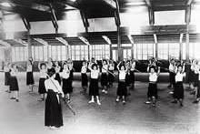 「修練」授業 薙刀 (1941年)