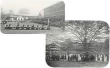 運動会 グラウンドは栄光館の位置にあった(1930年ころ)