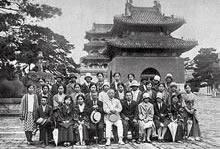 英文科卒業旅行 奉天北陵にて(1928年9月)