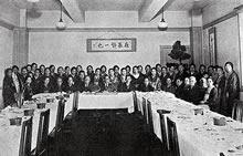 東京支部会 神田美土代町キリスト教青年会館。湯浅八郎同志社総長歓迎午餐会(1936年1月30日)