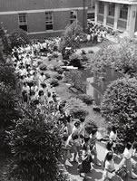 学内デモ行進 学生会集会後(1969年6月24日)