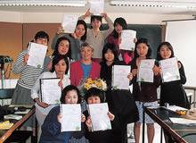 ランカスター大学 夏期研修修了証を手にして(1998年)