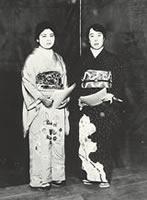 京都コーラス時代の柳兼子と竹内禎子(ソプラノ)