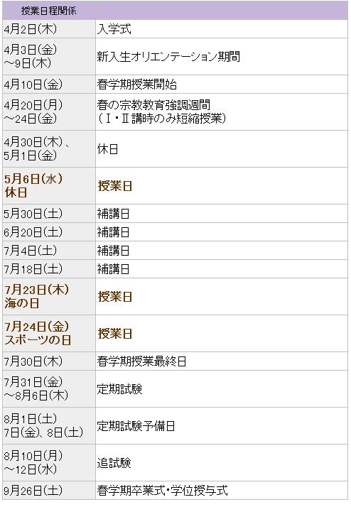 和歌山 大学 学年 暦
