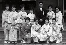 茶道部 裏千家15代家元鵬雲斎宗室宗匠と 同志社創立90周年記念日(1965年11月29日)