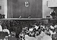 同窓会総会余興 栄光館ファウラー講堂、京都童踊研究所主催の童踊(1936年3月21日)
