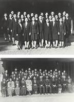 女専研究科修了記念 修了生は英語科30名、家政科67名(1946年3月29日)