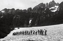 山岳部 池の平から剣沢へ(1957年7月22日~28日)