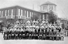 卒業記念 英文科家政科合同(1938年3月)