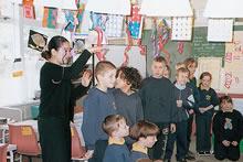 オーストラリア、ヴィクトリア州日本語教師アシスタント授業(1997年)