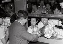 北海道旅行出発 京都駅(1962年7月)