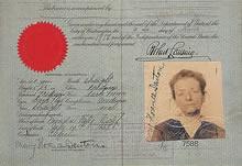 デントン60歳、アメリカ合衆国発行のパスポート(1918年3月2日付)デントン2回目、そして最後の帰国に際し取得したもの
